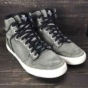 Supra Vaider Washed Canvas High Tops Size 12